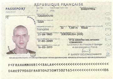 Hamouri Salah, pasaporte francés