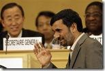 Iranian President Mahmoud Ahmadinejad meets U.N. Secretary-General Ban Ki-moon @ Durban