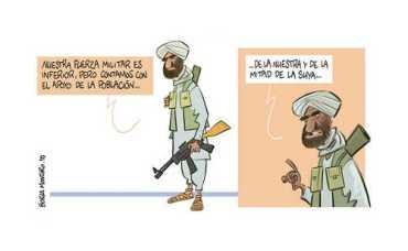 Caricatura aparecida hoy en La Razon. Tan real como la vida misma