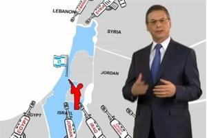"""Danny Ayalon. Mapa de """"las fronteras de Auschwitz"""""""