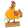fotomural-gallina-con-los-huevos-de-aves-de-dibujos-animados-illustration-domestic