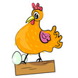 fotomural-gallina-con-los-huevos-de-aves-de-dibujos-animados-illustration-domestic