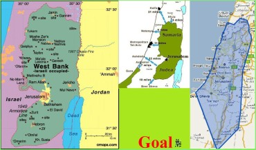 Mapa Israel-Judea Samaria