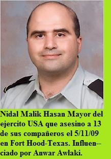 Nidal Mali Hasan Mayor asesino Fort Hood 5-11-09