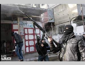 Palestino disparando