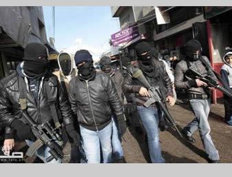 Palestinos armados