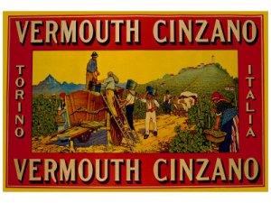 Cartel artístico de Cinzano , abundaron muchos entre mediados del siglo XIX y hasta la década de los 50 del siglo XX