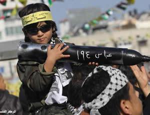 Niño palestino con misil