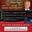 El pájaro de cuenta Chuck Hagel que ademas de votar en contra de resoluciones para parar a Irán se niega a dar información sobre sus inversiones e intereses en el extranjero.
