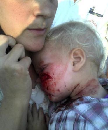 Bebe israelí apedreado