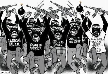 Islamistas jihad viñeta