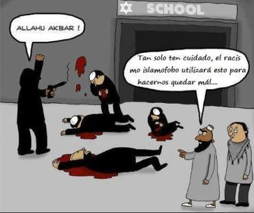 los racistas judios usan nuestros crimenes contra el islam