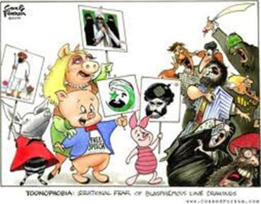 Manifa de cerditos ante islamistas