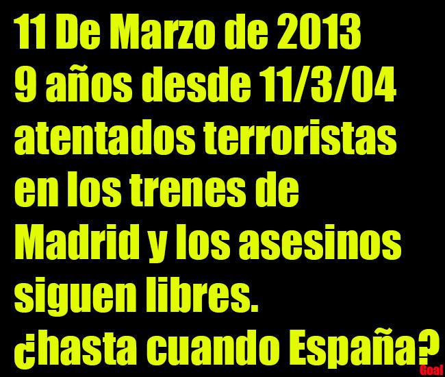Parche 11 de Marzo Ataques terroristas