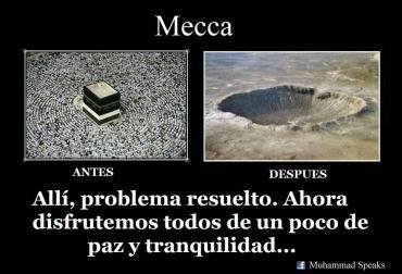 Antes del bombazo y despues la Meca puuuffff