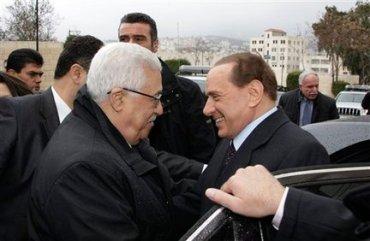 Silvio Berlusconi, Mahmoud Abbas