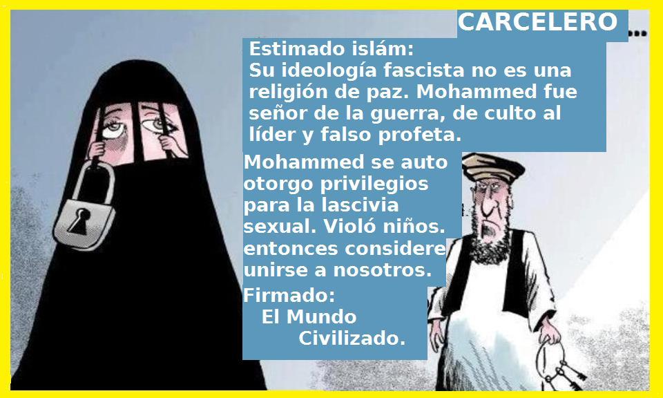 Mora enjaulada burka