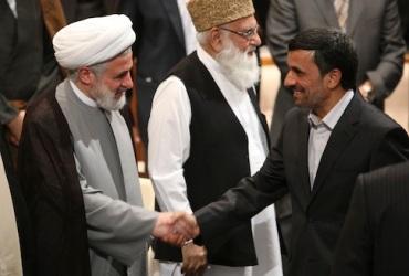 Mahmoud Ahmadinejad Sheik Naim Kassem
