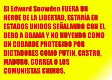 El traidor Edward Snowden