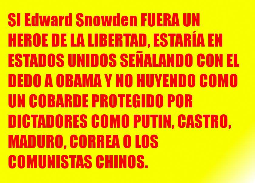El traidor Edward Snowden
