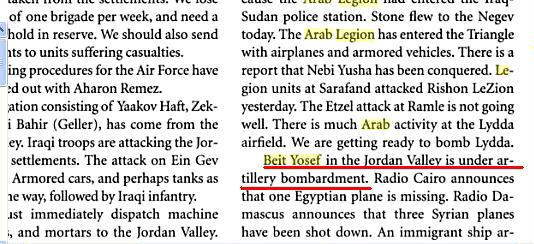 Beit Yosef, una localidad civil bombardeada por los ejercitos iraki y la legion arabe