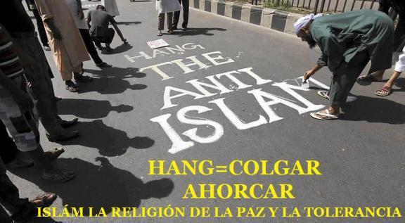 Colgar a los anti islám.