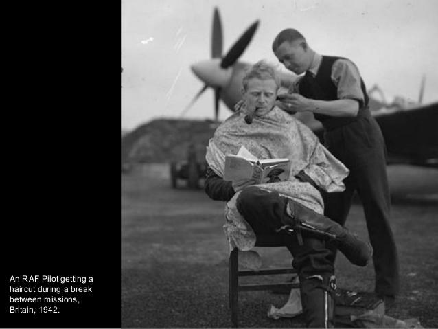 Hay que ir decentemente aseado para bombardear a esos cerdos, piloto de la British RAF en 1942.