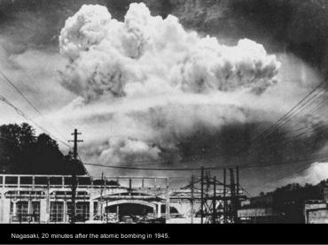 Nagasaki 20 minutos después del bombardeo. 1945.