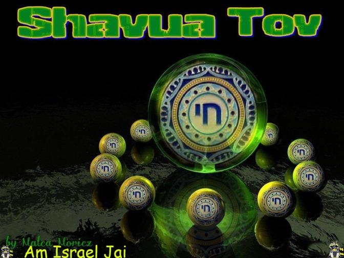 Shavua Tov en verde de Malca-para Xat
