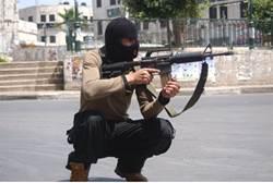 Terrorista palestino con m16