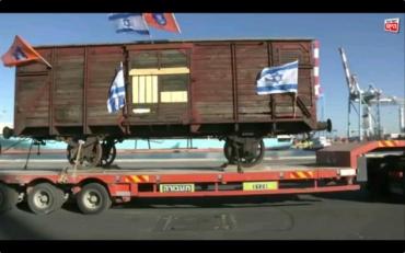Vagón de tren nazi que transporto judíos