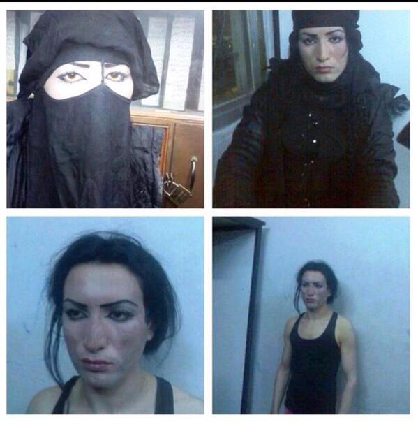Abu Muhammad al-Jawlani ,líder de Al Nusra Front, capturado cuando huía al Libano, vestido de mujer