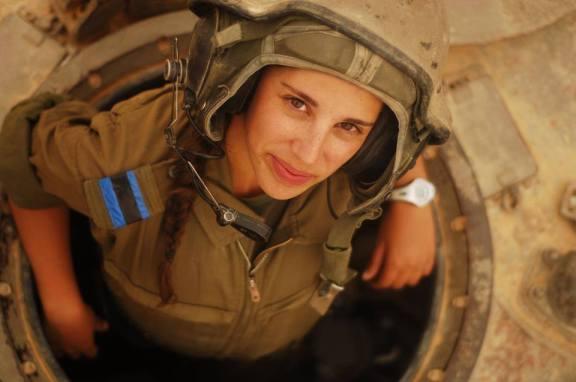 Tanquista femenina israelí