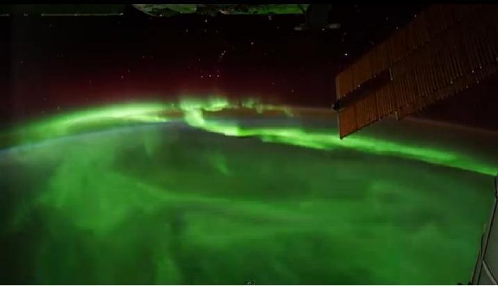 Vista desde la estación espacial