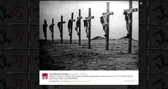 Masacre, tortura y crucifixión de mujeres armenias perpetrada por el ejercito turco en 1917, archivo secreto vaticano
