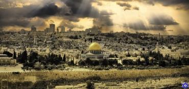 Panoramica con Maguen David de Jerusalém