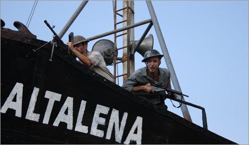 soldados a bordo
