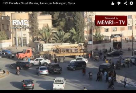 Desfile de Misiles y tanques del ISIS en Al-Raqqah Syria