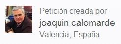 Peticion de ghange de joaquin calomarde