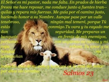 psalms23 El Señor es m pastor