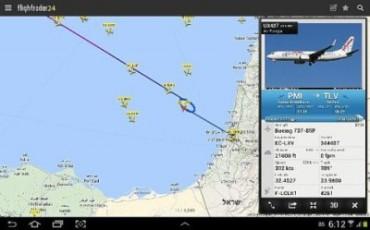 Rastreador de vuelos 21 de agosto 2014 en torno a las 6 am.