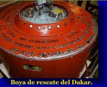 Boya de rescate del Dakar, se encuentra exhibida en el Museo Naval.