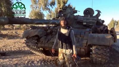 ISIS ante un tanque