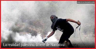 Palestino tirando piedras
