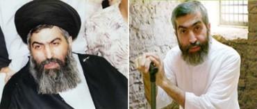 Ayatolá Hossein-Kazamani Boroujerdi, en tiempos mejores (izquierda) y en su celda de la prisión (derecha).