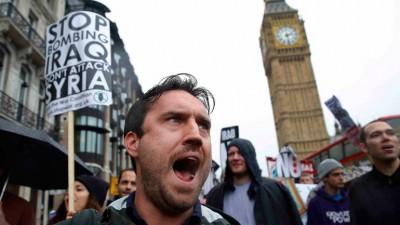 Britanicos manifa contra el ISIS