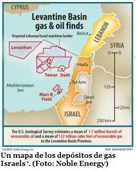 Mapa yacimientos gas y petroleo