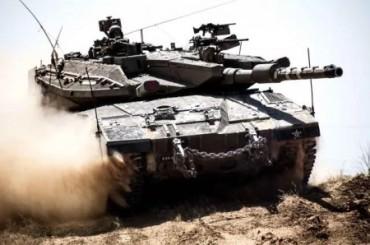 Tanque Merkava en acción Foto FDI