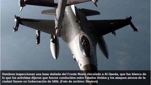 Aviones USA bombardean al-Qaeda Siria.