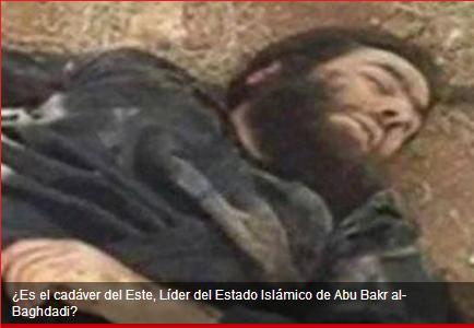 Cadaber de Abu Bakar al-Baghdadi lider del ISIS